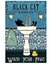 Black cat and sink co wash your paws poster 11x17 Poster front