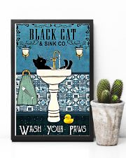 Black cat and sink co wash your paws poster 11x17 Poster lifestyle-poster-8