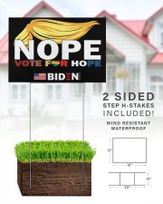 Trump Nope Vote For Hope Biden 2020  18x12 Yard Sign aos-yard-sign-18x12-lifestyle-front-25