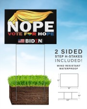 Trump Nope Vote For Hope Biden 2020  18x12 Yard Sign aos-yard-sign-18x12-lifestyle-front-26