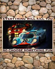 Sport car racing everything will kill you poster 17x11 Poster poster-landscape-17x11-lifestyle-15