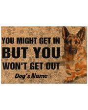 """Pesonalized German Shepherd you might get in  Doormat 22.5"""" x 15""""  front"""