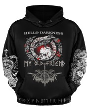 Viking Hello Darkness My Old Friend Valhalla  Men's All Over Print Hoodie aos-men-hoodie-ghosted-front-03