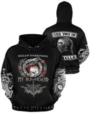 Viking Hello Darkness My Old Friend Valhalla  Men's All Over Print Hoodie aos-men-hoodie-ghosted-front-04