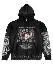Viking Hello Darkness My Old Friend Valhalla  Men's All Over Print Hoodie front