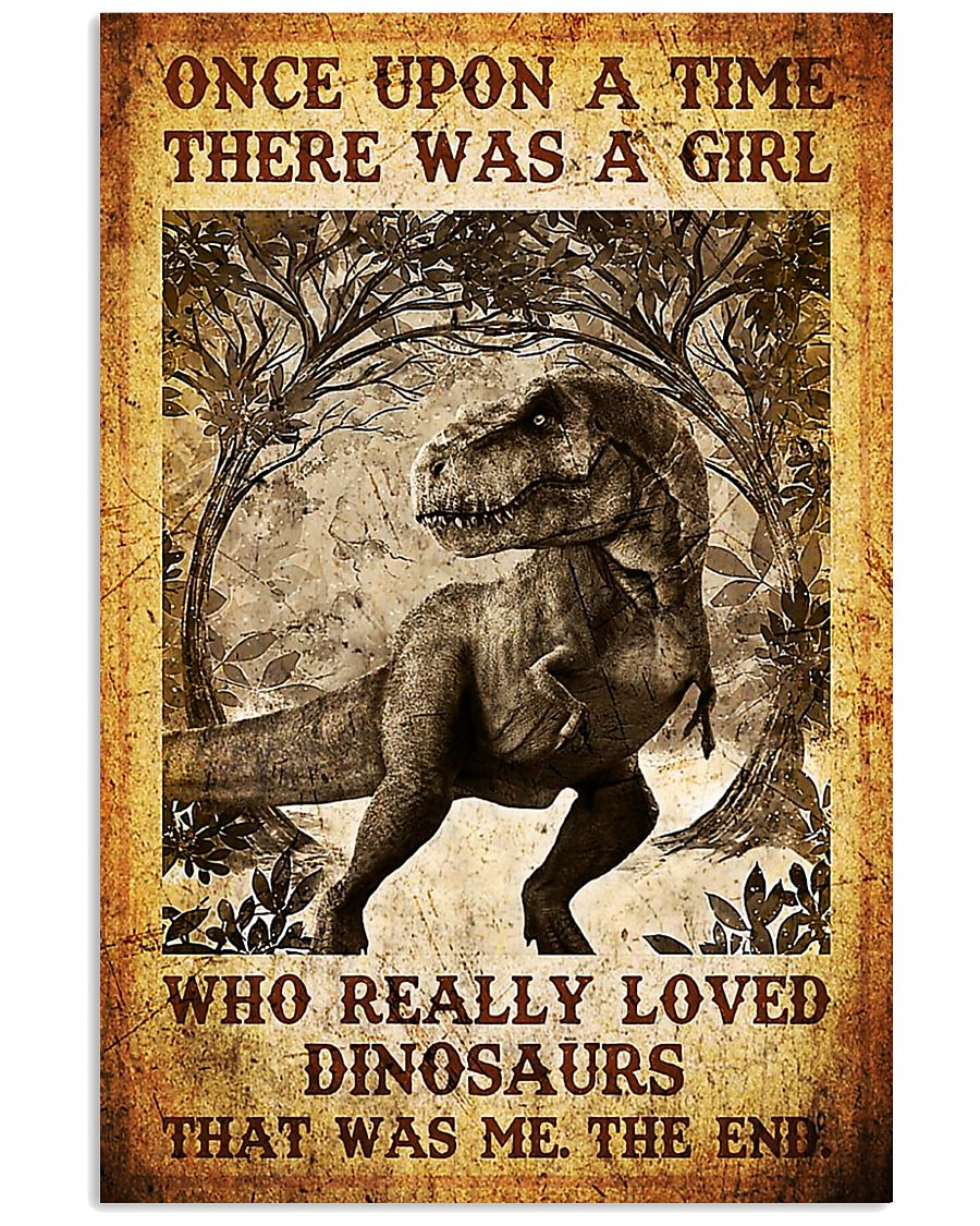 Girl who really loved dinosaurs poster 11x17 Poster