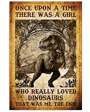 Girl who really loved dinosaurs poster 11x17 Poster front