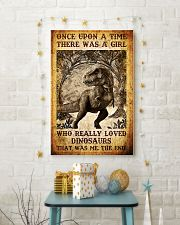 Girl who really loved dinosaurs poster 11x17 Poster lifestyle-holiday-poster-3