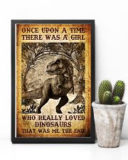 Girl who really loved dinosaurs poster 11x17 Poster lifestyle-poster-8