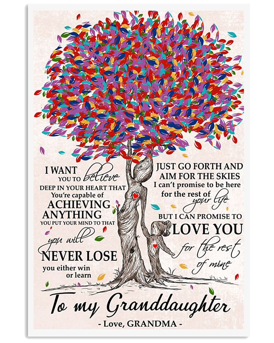 To my Granddaughter love Grandma Tree 24x36 Poster