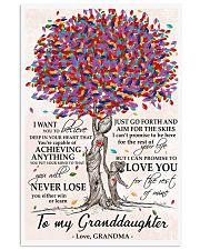 To my Granddaughter love Grandma Tree 24x36 Poster front