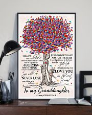 To my Granddaughter love Grandma Tree 24x36 Poster lifestyle-poster-2