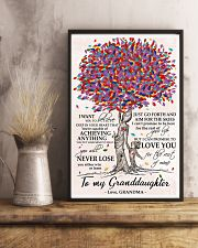 To my Granddaughter love Grandma Tree 24x36 Poster lifestyle-poster-3
