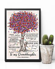 To my Granddaughter love Grandma Tree 24x36 Poster lifestyle-poster-8