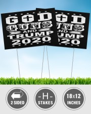 God guns and trump 2020 yard sign 18x12 Yard Sign aos-yard-sign-18x12-lifestyle-front-32