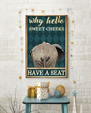 Elephant why hello sweet cheeks have a seat poster 11x17 Poster lifestyle-holiday-poster-3