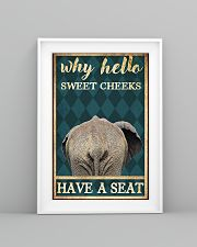 Elephant why hello sweet cheeks have a seat poster 11x17 Poster lifestyle-poster-5