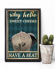 Elephant why hello sweet cheeks have a seat poster 11x17 Poster lifestyle-poster-8
