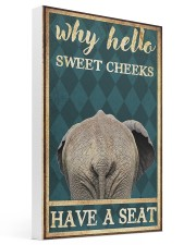 Elephant why hello sweet cheeks have a seat poster 16x24 Gallery Wrapped Canvas Prints thumbnail