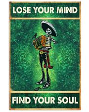 Skull accordion lose your mind find soul poster 11x17 Poster front