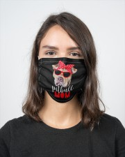 Pitbull mom face mask 2 Layer Face Mask - Single aos-face-mask-2-layers-lifestyle-front-16