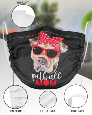 Pitbull mom face mask 2 Layer Face Mask - Single aos-face-mask-2-layers-lifestyle-front-51