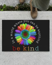 """In a world where you can be anything doormat Doormat 22.5"""" x 15""""  aos-doormat-22-5x15-lifestyle-front-01"""