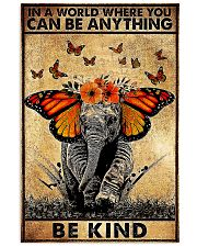 Elephant butterfly in a world you can be anything 11x17 Poster front