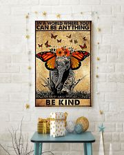 Elephant butterfly in a world you can be anything 11x17 Poster lifestyle-holiday-poster-3