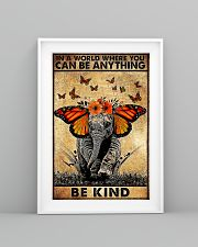 Elephant butterfly in a world you can be anything 11x17 Poster lifestyle-poster-5