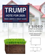 Trump vote for 2020 make america great again 18x12 Yard Sign aos-yard-sign-18x12-lifestyle-front-25