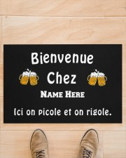 "Personnalisez Bienvenue Chez  Doormat 22.5"" x 15""  aos-doormat-22-5x15-lifestyle-front-02"