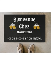 "Personnalisez Bienvenue Chez  Doormat 22.5"" x 15""  aos-doormat-22-5x15-lifestyle-front-04"