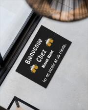"Personnalisez Bienvenue Chez  Doormat 22.5"" x 15""  aos-doormat-22-5x15-lifestyle-front-08"