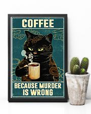 Cat coffee because murder is wrong poster 11x17 Poster lifestyle-poster-8