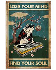 Cat dj lose your mind find your soul poster 11x17 Poster front