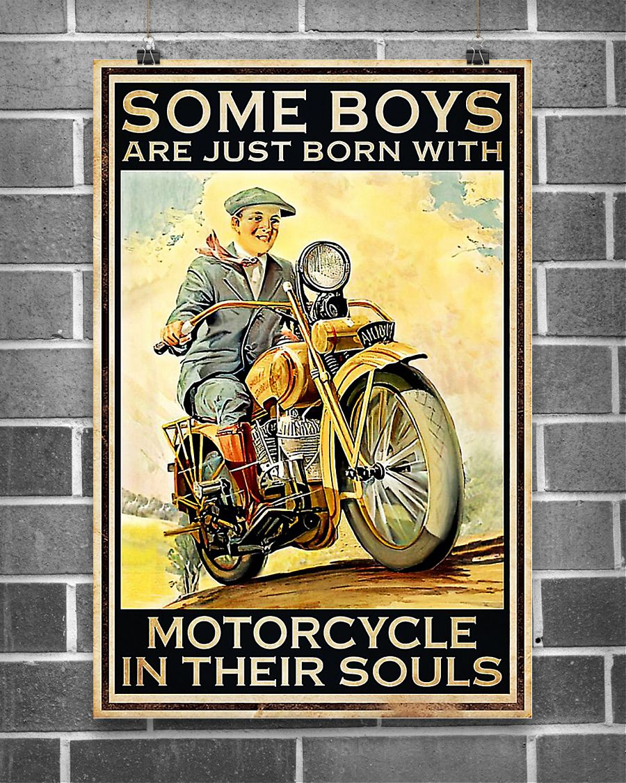 Some boys are just born with motorcycle poster 16x24 Poster