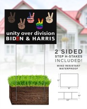 Unity over division biden and harris yard signs 18x12 Yard Sign aos-yard-sign-18x12-lifestyle-front-25
