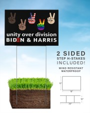 Unity over division biden and harris yard signs 18x12 Yard Sign aos-yard-sign-18x12-lifestyle-front-26
