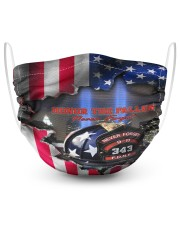Honor the fallen never forget face mask 2 Layer Face Mask - Single front