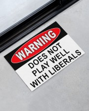 """Warning does not play well with liberals doormat Doormat 22.5"""" x 15""""  aos-doormat-22-5x15-lifestyle-front-09"""