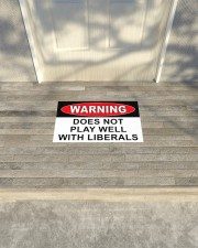 """Warning does not play well with liberals doormat Doormat 22.5"""" x 15""""  aos-doormat-22-5x15-lifestyle-front-14"""