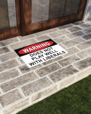 """Warning does not play well with liberals doormat Doormat 22.5"""" x 15""""  aos-doormat-22-5x15-lifestyle-front-20"""