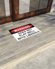 """Warning does not play well with liberals doormat Doormat 22.5"""" x 15""""  aos-doormat-22-5x15-lifestyle-front-21"""