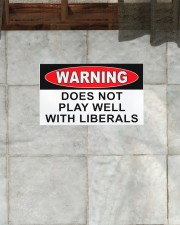 """Warning does not play well with liberals doormat Doormat 22.5"""" x 15""""  aos-doormat-22-5x15-lifestyle-front-28"""