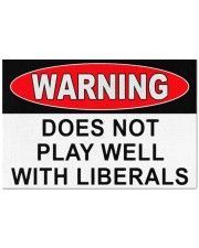 """Warning does not play well with liberals doormat Doormat 22.5"""" x 15""""  front"""
