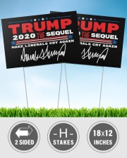 Trump the sequel signature yard sign 18x12 Yard Sign aos-yard-sign-18x12-lifestyle-front-32