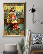 Dog hairdresser i cut hair and i know thing poster 11x17 Poster lifestyle-poster-1