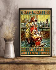 Dog hairdresser i cut hair and i know thing poster 11x17 Poster lifestyle-poster-3