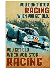 Sport car you don't stop racing when you get old p 11x17 Poster front